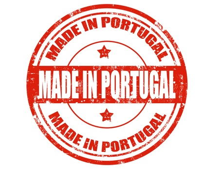 made in portugal: Grunge rubber stamp with text Made in Portugal