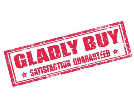 gladly: Grunge sello de goma con el texto mucho gusto Compro, ilustraci�n vectorial Vectores