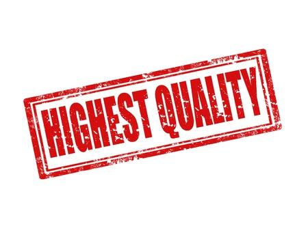 highest: Grunge rubber stamp with text Highest Quality,vector illustration Illustration