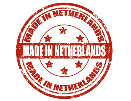 made in netherlands: Grunge rubber stamp with text Made in Netherlands,vector illustration
