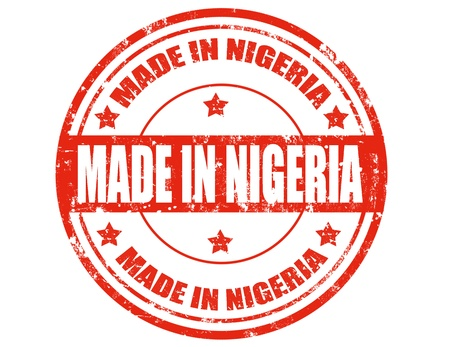 Grunge rubber stamp with text Made in Nigeria,vector illustration Vector