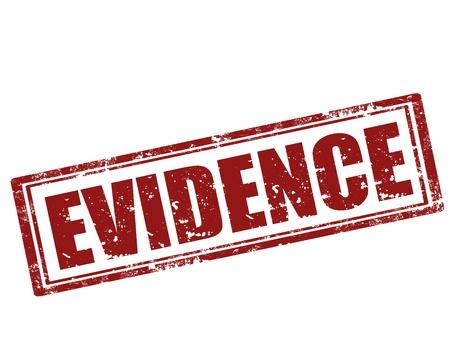 Grunge sello de goma con la evidencia palabra, ilustración vectorial