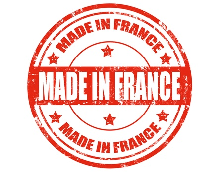 Grunge rubber stamp with text Made in France,vector illustration Stock Vector - 21873035