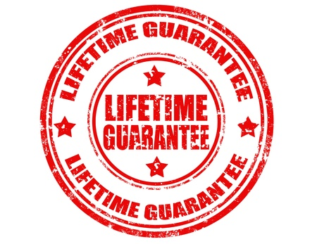 lifetime: Grunge rubber stamp with text Lifetime Guarantee,vector illustration