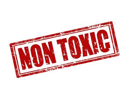 non toxic: Grunge sello de goma con el texto no t�xico, ilustraci�n vectorial Vectores