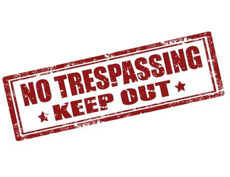 no trespassing: Grunge sello de goma con el texto Prohibido el paso, ilustraci�n vectorial Vectores
