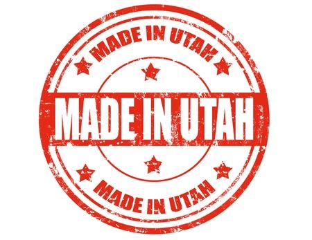 グランジ テキスト ユタ州、ベクトル図で作られたゴム印