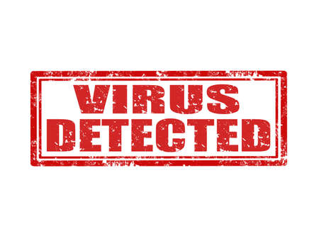 detected: Grunge rubber stamp with text Virus Detected,vector illustration
