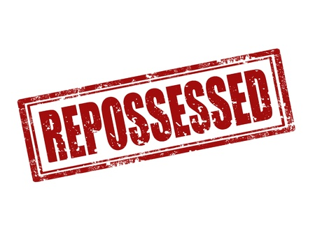 Grunge rubber stamp with word Repossessed,vector illustration