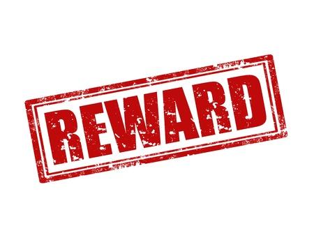 Grunge rubber stamp with word Reward,vector illustration