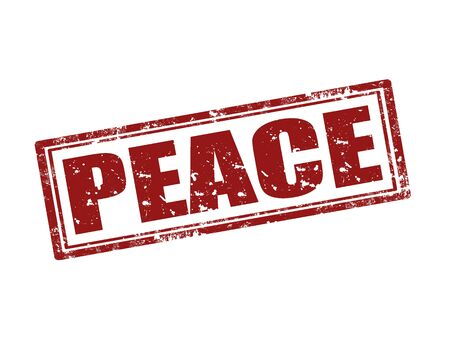 peace stamp: Grunge rubber stamp with word Peace,vector illustration
