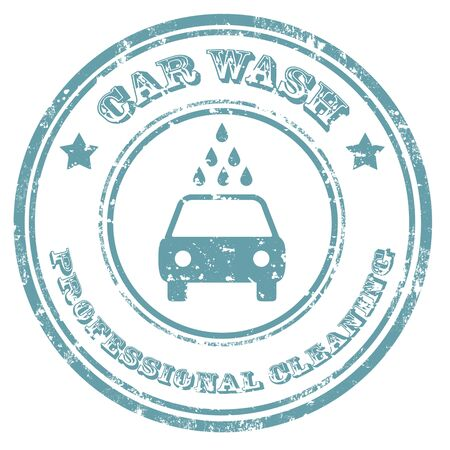 cleaning service: Grunge rubber stamp with text Car Wash,vector illustration