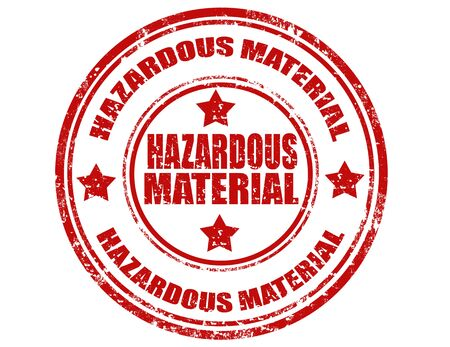 hazardous material: Grunge rubber stamp with text Hazardous Material,vector illustration