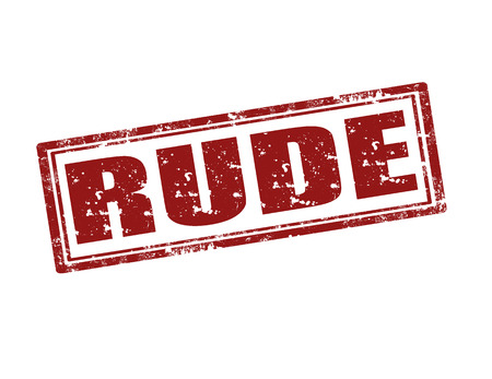 rude: Grunge rubber stamp with word Rude,vector illustration