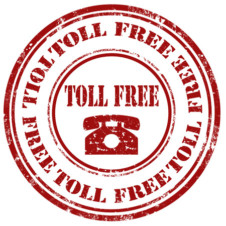 toll free: Grunge rubber stamp with text Toll Free,vector illustration Illustration