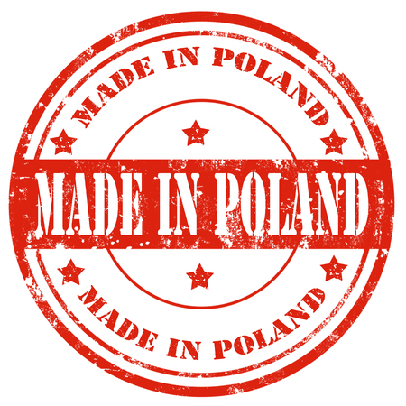 Grunge rubber stamp with text Made in Poland Vector
