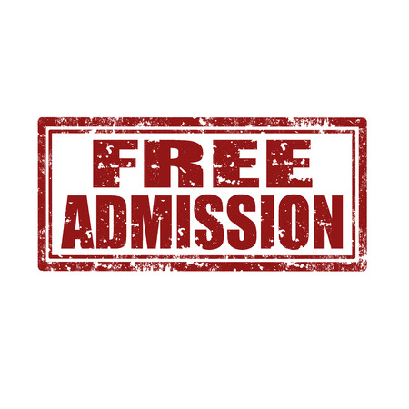 admission: Grunge rubber stamp with text Free Admission