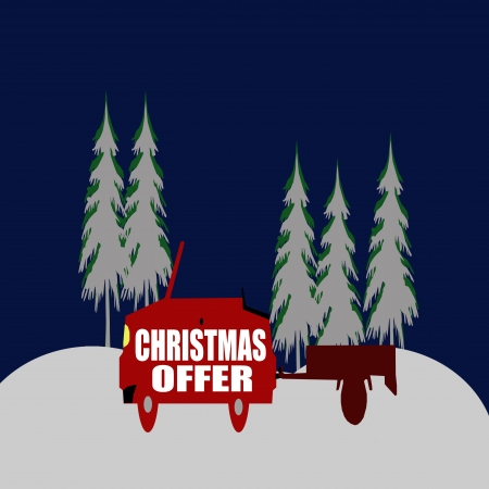 Christmas offer background Vector