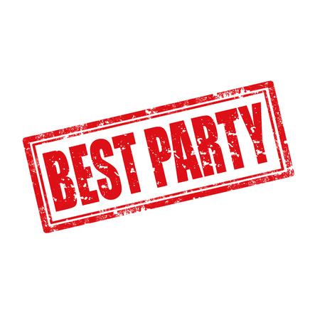 best party: Grunge timbro di gomma con il testo Best Party, illustrazione