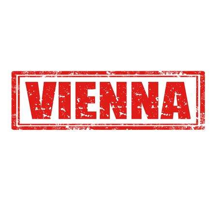 Grunge rubber stamp with word Vienna Vector