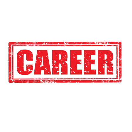resign: Grunge rubber stamp with word Career, illustration