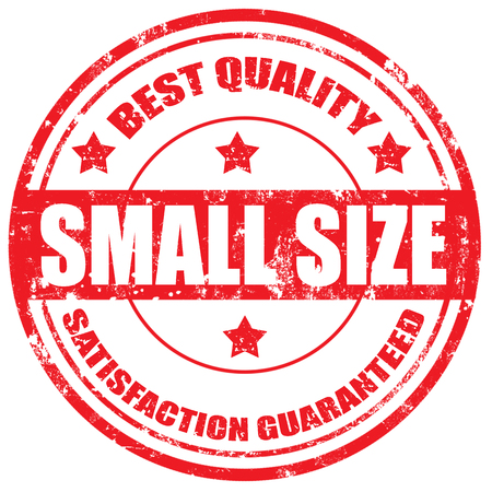 small size: Grunge sello de goma con el texto de tama�o peque�o, la ilustraci�n