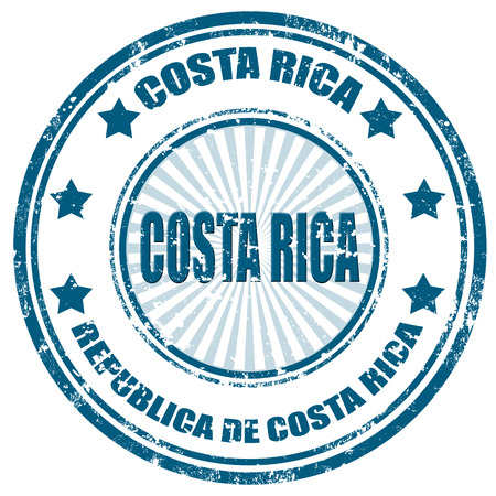 costa rica: Grunge rubber stamp with text Costa Rica
