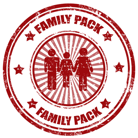 Grunge rubber stamp with text Family Pack Vector