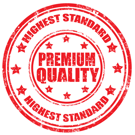 Grunge rubber stamp with text Premium Quality-Highest Standard Illustration