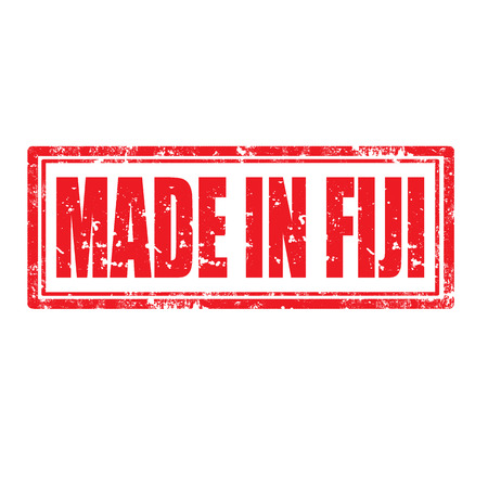 fiji: Grunge rubber stempel met tekst Made in Fiji Stock Illustratie