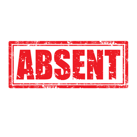 absent: Grunge rubber stamp with word Absent,vector illustration Illustration