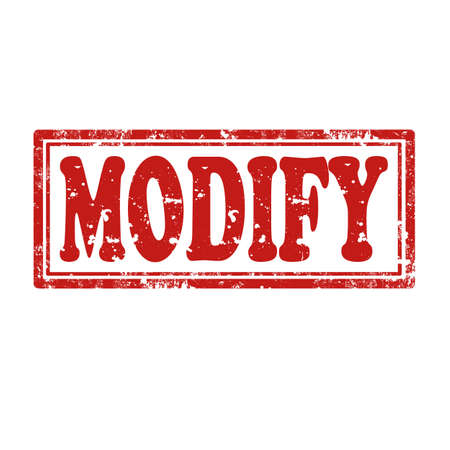 modificar: Grunge sello de goma con la palabra Modificar, ilustración vectorial