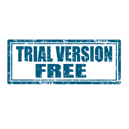version: Grunge rubber stamp with text Trial Version Free,vector illustration
