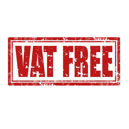 vat: Grunge rubber stamp with text Vat Free,vector illustration Illustration
