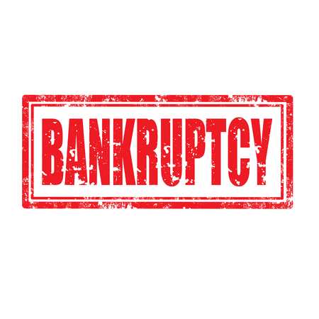 bankruptcy: Grunge rubber stamp with word Bankruptcy,vector illustration