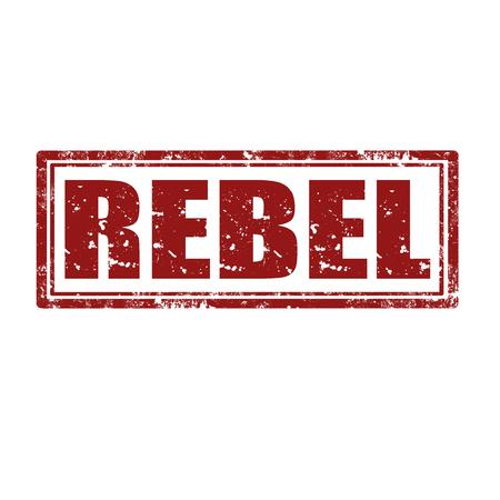 Grunge rubber stamp with word Rebel,vector illustration
