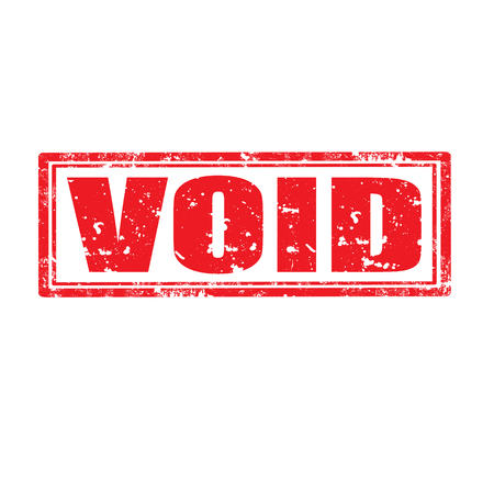 void: Grunge rubber stamp with word Void,vector illustration