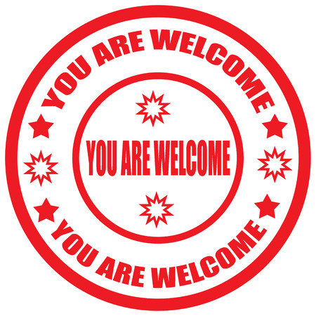 you are welcome: Label with text You Are Welcome,vector illustration