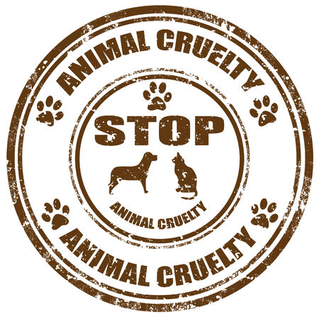 animal abuse: Grunge rubber stamp with text Stop Animal Cruelty,vector illustration