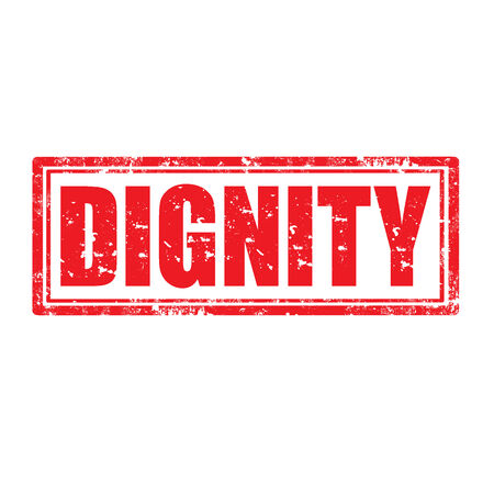 dignity: Grunge rubber stamp with word Dignity,vector illustration Illustration
