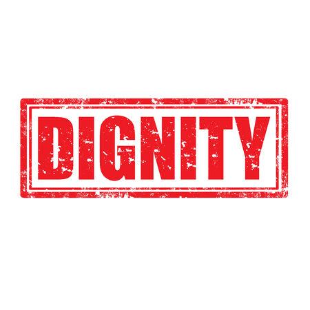 dignidad: Grunge sello de goma con la palabra dignidad, ilustraci�n vectorial