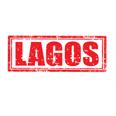 lagos: Grunge rubber stamp with word Lagos,vector illustration