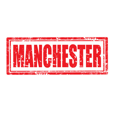 manchester: Grunge rubber stamp with word Manchester,vector illustration