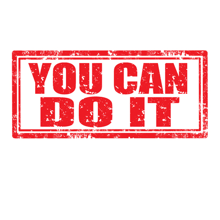you can do it: Grunge rubber stamp with text You Can Do It,vector illustration