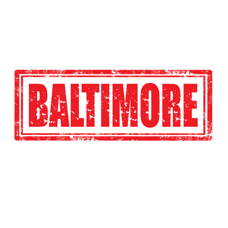 baltimore: Grunge rubber stamp with word Baltimore,vector illustration