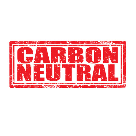 carbon neutral: Grunge rubber stamp with text Carbon Neutral,vector illustration