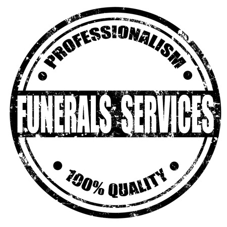 professionalism: Grunge rubber stamp with text Funerals Services,vector illustration