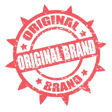 stamper: Grunge rubber stamp with text Original Brand,vector illustration Illustration