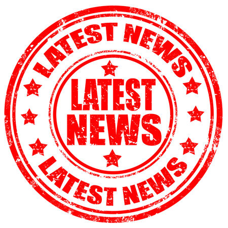 Grunge stempel met de tekst Laatste Nieuws, vectorillustratie