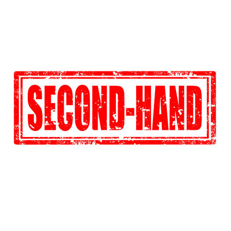 second hand: Grunge rubber stamp with text Second-Hand,vector illustration